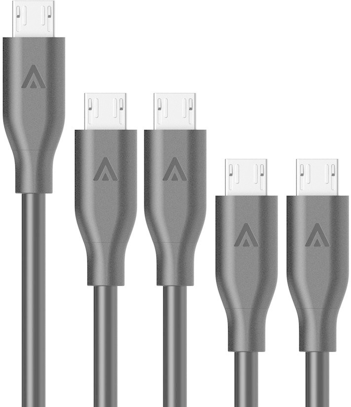 Image of Anker [5 Pack] PowerLine micro-USB (2x0.3m + 2x0.9m + 1x1.8m)