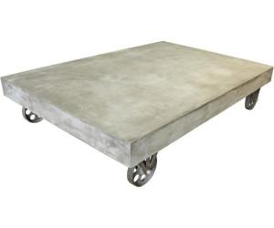 SIT Couchtisch 90 X 130 Cm Grau 90x130x28cm Leichtbeton/mit Rollen (9975 13)