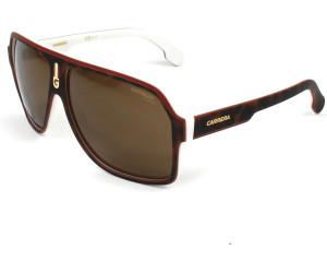 Carrera Eyewear Herren Sonnenbrille » CARRERA 1001/S«, weiß, C9K/SP - weiß/braun