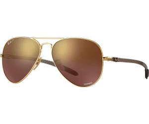 RAY BAN RAY-BAN Herren Sonnenbrille » RB8317CH«, goldfarben, 001/6B - gold/gold