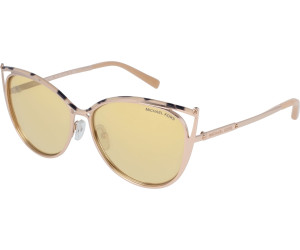 Michael Kors Damen Sonnenbrille Ina 11645A, Gold Marble/Gold-Tone/Bronzemirror, 56