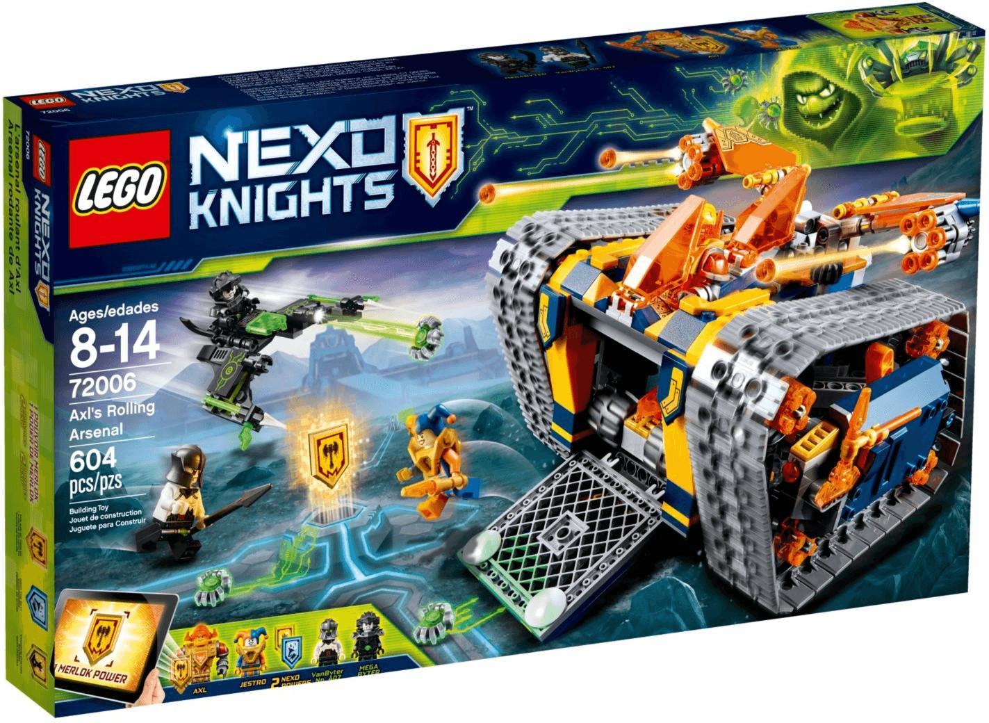 LEGO Nexo Knights - L'arsenal sur chenilles d'Axl (72006)