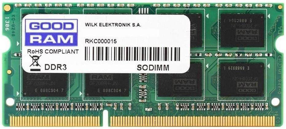 Image of GoodRAM 4GB SODIMM DDR3-1600 CL11 (GR1600S364L11S/4G)