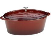 Küchenprofi Bratentopf Provence emaillierter Gussbräter oval 35cm creme