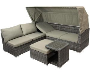 Gartenmöbel set lounge grau  gartenmoebel-einkauf MANACOR Funktions-Loungeset grau bi-color ab ...