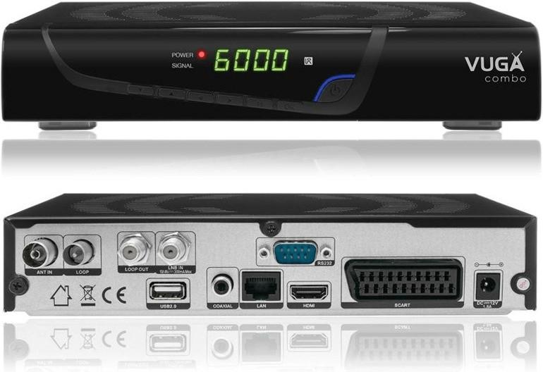 Vuga Sat Full HD Combo Sat DVB-C/T2 H.265