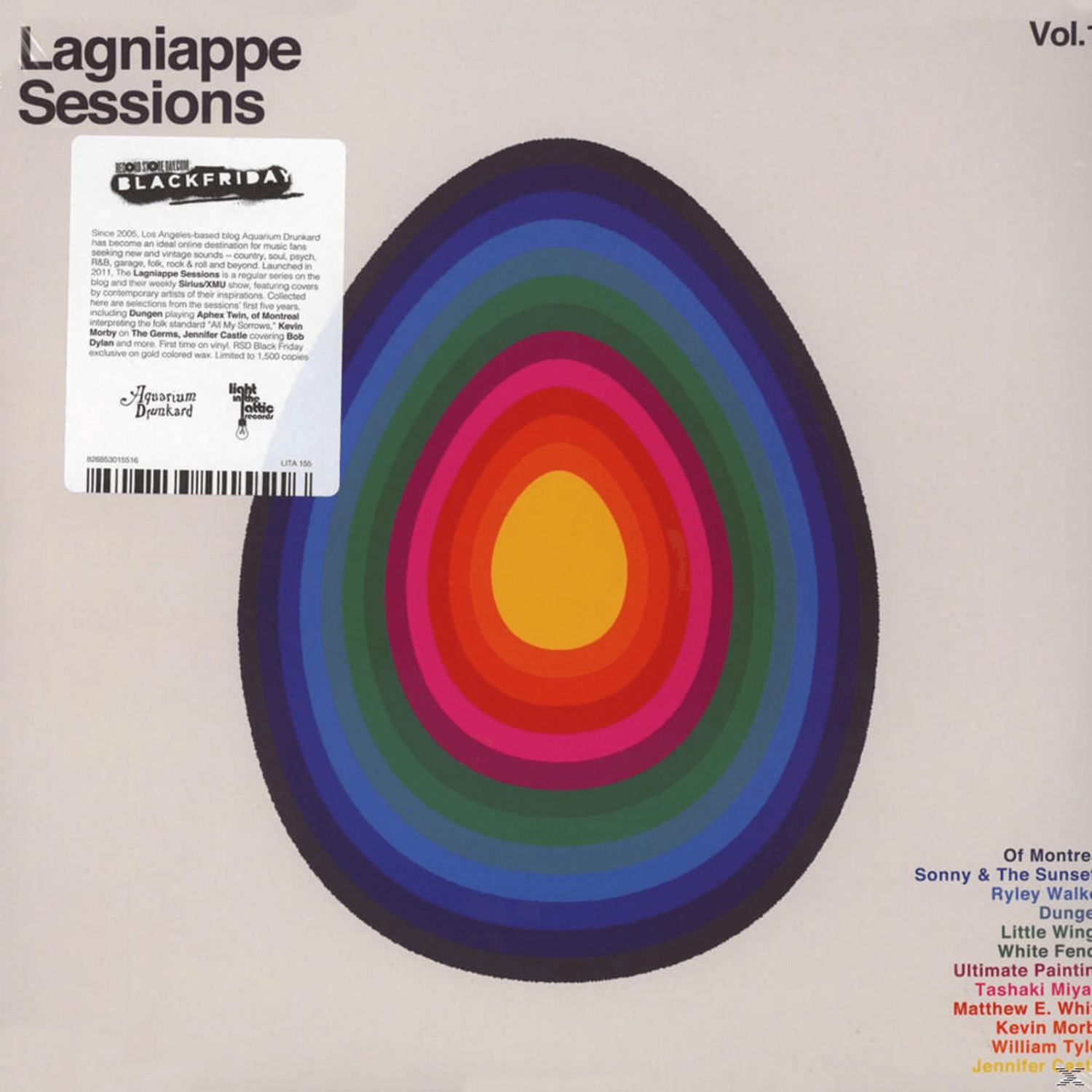 VARIOUS - Lagniappe Sessions Vol. 1 (Limited Go...