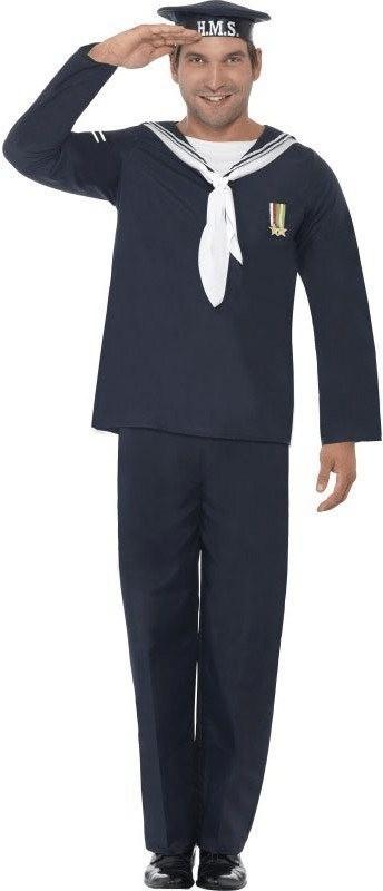 Smiffy's 1940er Marine Offizier Kostüm L