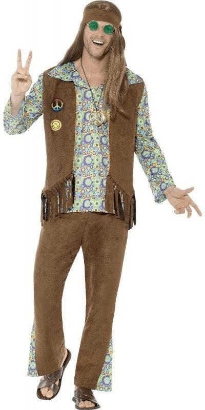 Smiffy´s Groovy Hippie Man Stanley Herrenkostüm L