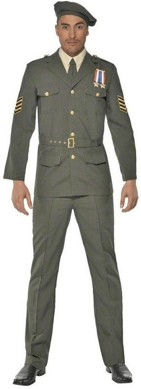 Smiffy's Offizier Militär Kostüm L