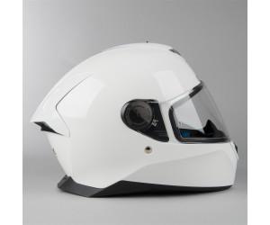 XS Shark Casco de moto SKWAL 2 BLANK WHT LED WHU Blanco