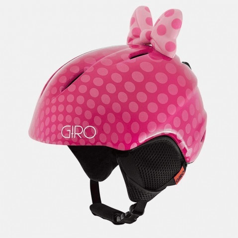 Giro Launch Plus pink bow polka dots