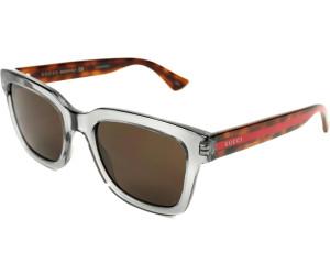 Gucci Herren Sonnenbrille GG0001S 001, Schwarz (Black/Smoke), 52