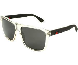 Gucci Herren Sonnenbrille GG0010S 003, Braun (Avana/Grey), 58