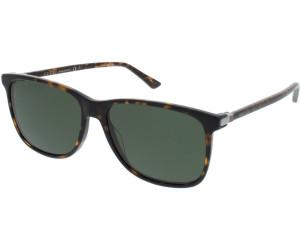Gucci Herren Sonnenbrille GG0017S 001, Schwarz (Black/Grey), 57