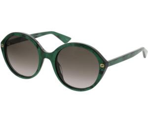 Gucci Damen Sonnenbrille GG0023S 001, Schwarz (Black/Green), 55