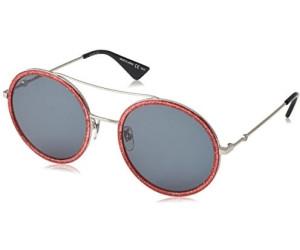 Gucci Damen Sonnenbrille GG0061S 008, Gold (Gold/Green), 56