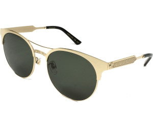 Gucci Damen Sonnenbrille GG0075S 001, Schwarz (Black/Grey), 56