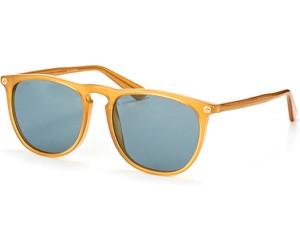 Gucci Herren Sonnenbrille GG0120S 004, Gelb (Yellow/Grey), 53