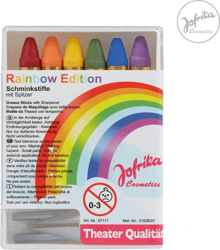 Jofrika Schminkstifte Regenbogen 6er