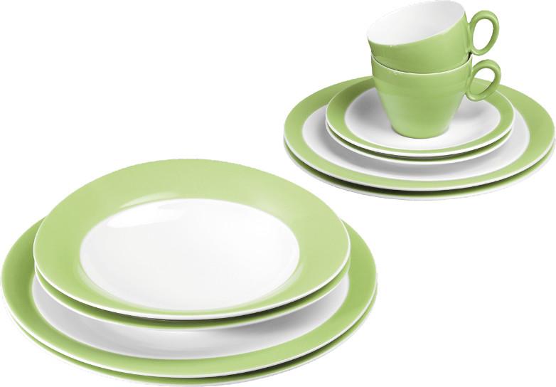 Seltmann Weiden Trio Tafelservice Set 10 tlg. apfelgrün | Küche und Esszimmer > Besteck und Geschirr > Geschirr | Porzellan