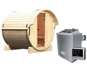 Karibu Fasssauna 1 (mit 9 kW Ofen + externem Steuergerät Easy)