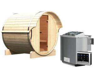Karibu Fasssauna 1 (mit 9 kW Bio-Ofen + externe Steuerung)