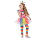 Orl Damen Kostüm Einhorn Kleid mit Kapuze Karneval Fasching