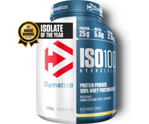 Dymatize Iso100 Hydrolyzed 100 Whey Protein Isolate 2200g Birthday Cake