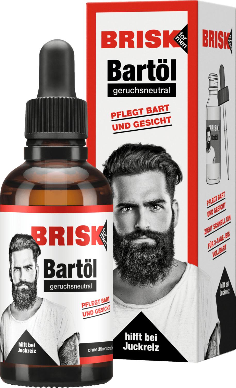 Brisk Bartpflege Bartöl geruchsneutral (50ml)
