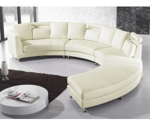 beliani ledersofa rundes sofa rotunde ab. Black Bedroom Furniture Sets. Home Design Ideas