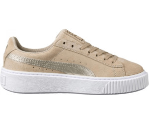 77030cd9f34c Buy Puma Suede Platform Metallic Safari Women s from £35.62 – Best ...