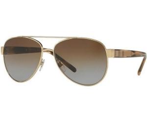 Burberry BE3084 Sonnenbrille Gold 1145-T5 Polarisiert 57mm MU07zMJ2n