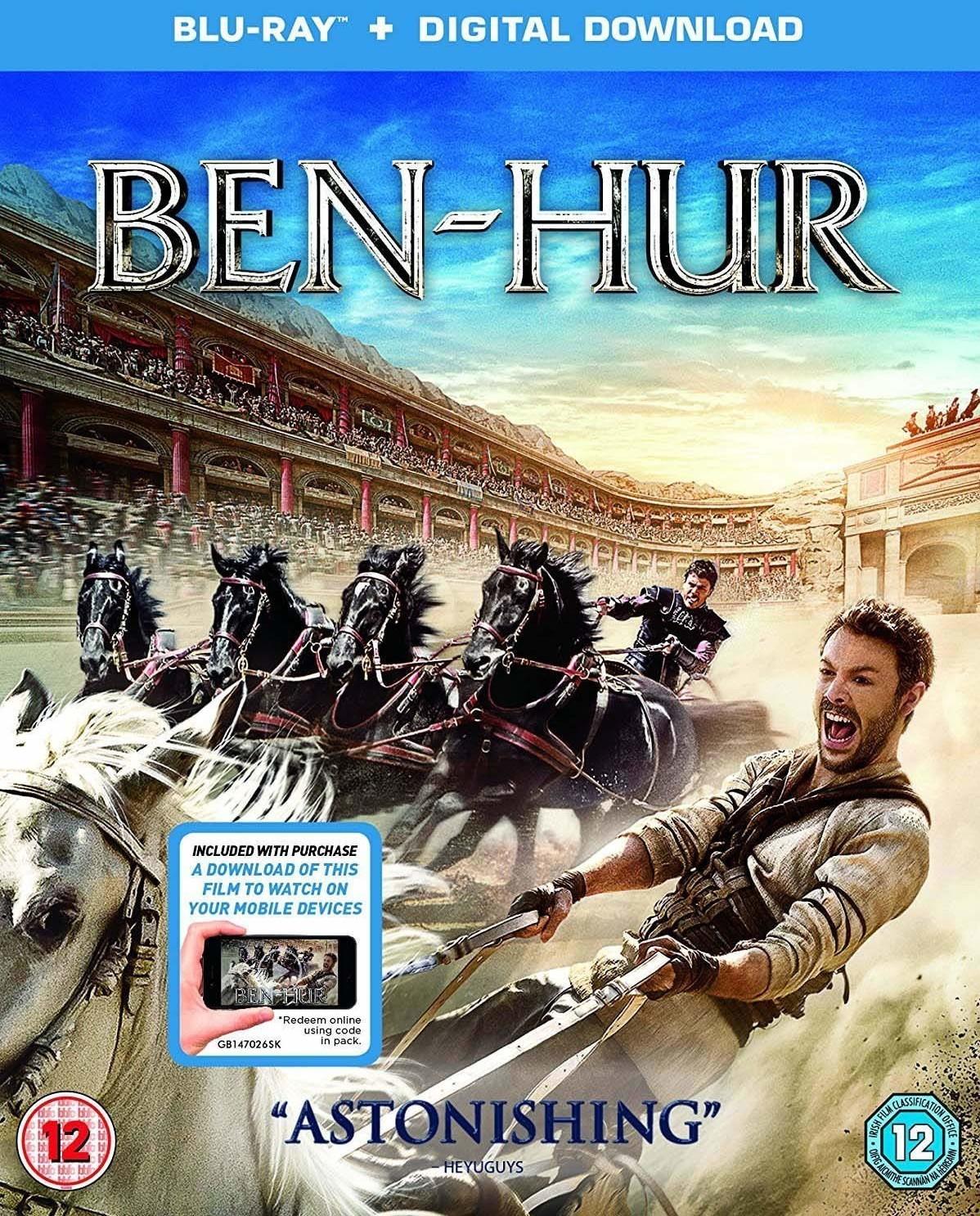 Image of Ben Hur (Digital Download) [Blu-ray] [2016] [Region Free]