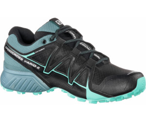 Salomon Damen Speedcross Vario 2 Trailrunning-Schuhe, Schwarz/Blau (Black/North Atlantic/Biscay Green), Gr. 40 2/3