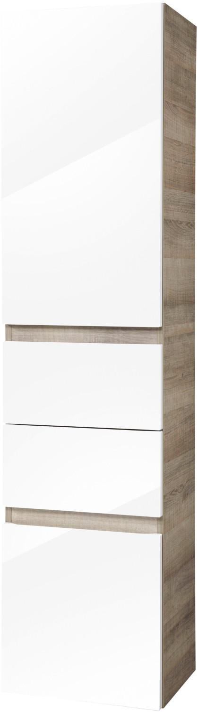 Fackelmann Piuro 40cm weiß hochglanz/graueiche Hochschrank (87153)
