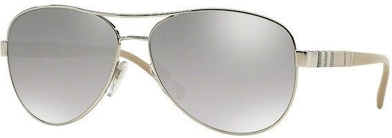 Image of Burberry BE3080 10056V (silver/light grey mirror gradient silver)
