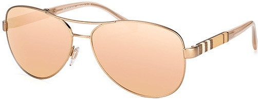 Image of Burberry BE3080 12357J (matte gold/brown mirror rose gold)
