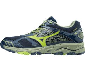 Mizuno Wave Mujin 4 GTX Dress Blues / Greenery / Olivine - Livraison Gratuite avec - Chaussures Chaussures-de-running Homme