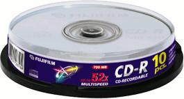 Fuji Magnetics CD-R 700MB 80min 52x 10er Spindel