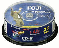 Image of Fuji Magnetics CD-R 700MB 80min 52x printable 25pk Spindle