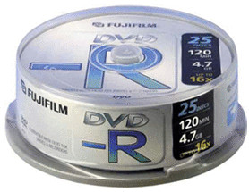 Image of Fuji Magnetics DVD-R 4,7GB 120min 16x 25pk Spindle
