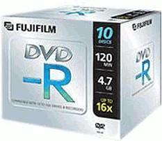 Image of Fuji Magnetics DVD-R 4,7GB 120min 16x 10pk Jewel Case
