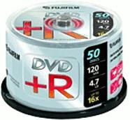 Image of Fuji Magnetics DVD+R 4,7GB 120min 16x 50pk Spindle