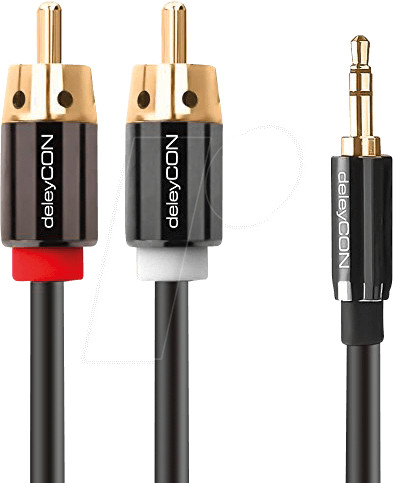 Image of deleyCON PREMIUM Stereo 3,5mm male - 2x cinch male