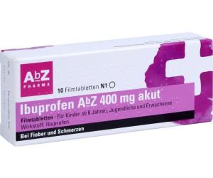 ibuprofen 400 mg akut filmtabletten ab 0 51 preisvergleich bei. Black Bedroom Furniture Sets. Home Design Ideas
