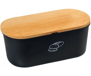 Kesper Brotbox oval 34 x 18 cm schwarz