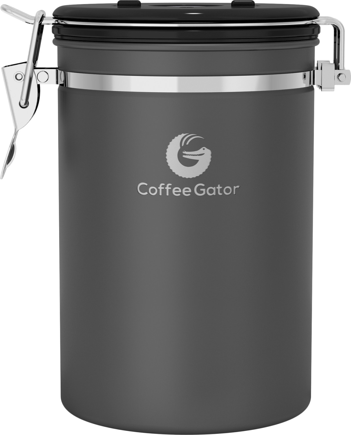 Image of Coffee Gator Stainless Steel Coffee Canister Large grey
