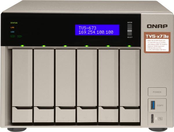 QNAP TVS-673e-8G sin disco duro