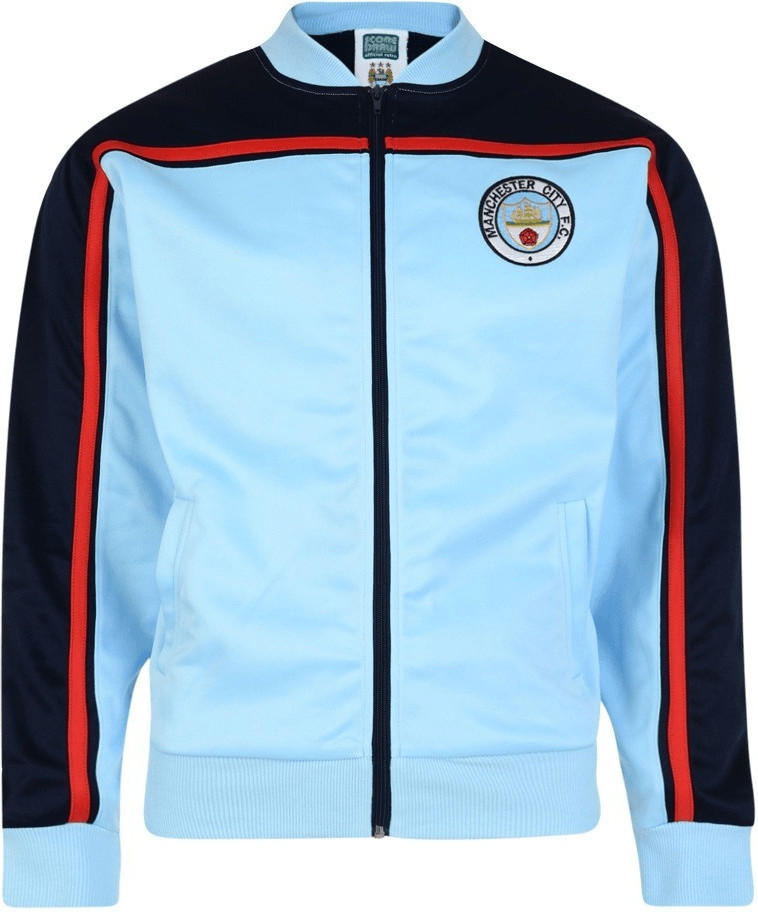 Score Draw Manchester City Retro Trainingsjacke...